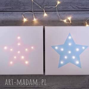 pomysł na świąteczny prezent świecący obraz gwiazda