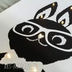 królik pokoik dziecka białe świecący obraz prezent lampa