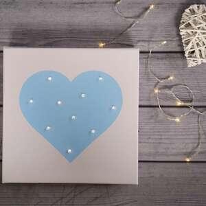 pokoik dziecka: świecący obraz led serce prezent lampka dekoracja dla dziewczynki pastelowy dziewczynka