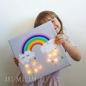 pokoik dziecka prezent świecący obraz tęcza lampka