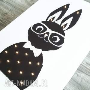 nietypowe pokoik dziecka królik świecący obraz prezent lampa