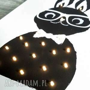 czarne pokoik dziecka lampa świecący obraz królik prezent
