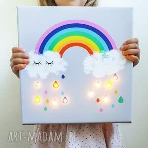 pokoik dziecka lampka świecący obraz tęcza prezent