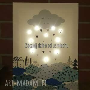 pokoik dziecka led świecący obraz motto typografia
