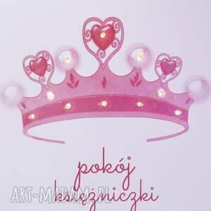 nietuzinkowe pokoik dziecka ksieżniczka świecący obraz led z koroną pokój