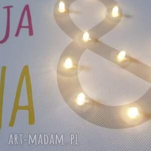 pokoik dziecka: Świecący obraz LED dla brata dla siostry dla rodzeństwa prezent lampka personalizowany
