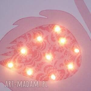 pokoik dziecka obraz świecący led różowy flaming