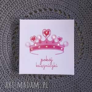 pokoik dziecka ksieżniczka świecący obraz led z koroną pokój