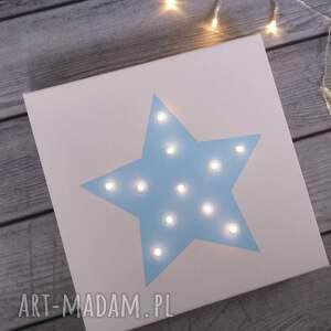 pomysł na świąteczny prezent dekoracja świecący obraz gwiazda