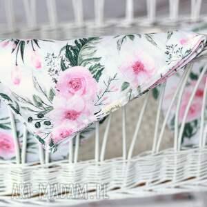 różowe pokoik dziecka kocyk tetrowy otulacz