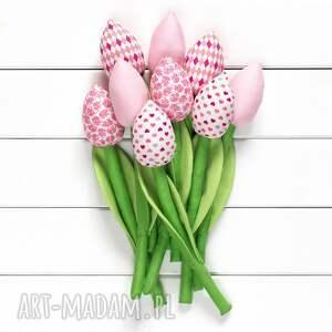 hand-made pokoik dziecka tulipany jasno różowy bawełniany