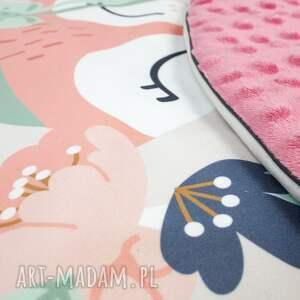 hand-made pokoik dziecka dywanik welurowa mata do zabawy oraz dwie