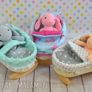 frapujące pokoik dziecka kołyska wiklinowa dla lalek -
