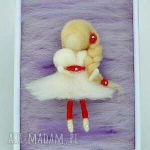 fioletowe pokoik dziecka lawenda wróżka balerina tańcząca wśród l