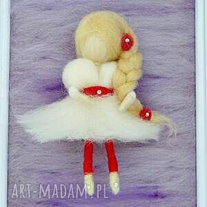 lawenda pokoik dziecka czerwone wróżka balerina tańcząca wśród l