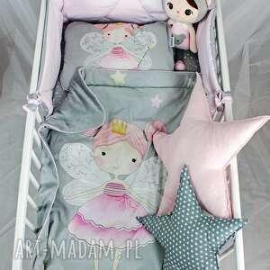 ręcznie zrobione pokoik dziecka niemowlę wróżki zestaw do łóżeczka kocyk