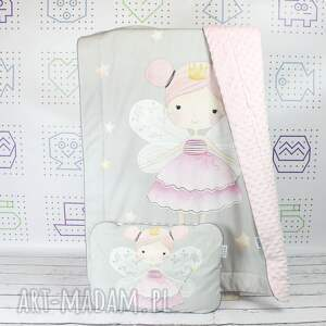 szare pokoik dziecka wróżki zestaw do łóżeczka kocyk