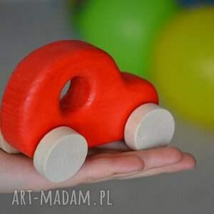 samochód pokoik dziecka czerwone 3 x samochody drewniane