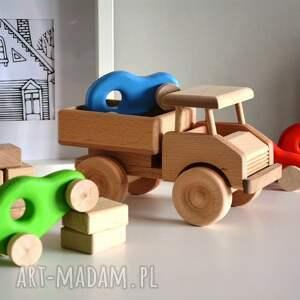 hand-made pokoik dziecka auto 3 x samochody drewniane