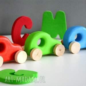 hand-made pokoik dziecka samochód 3 x samochody drewniane