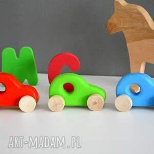 zielone pokoik dziecka samochodzik 3 x samochody drewniane