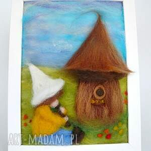 handmade pokoik dziecka chłopiec zaczarowana pasieka. Obraz