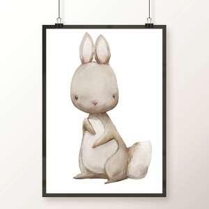 ręcznie wykonane pokoik dziecka zwierzaki zestaw 3 plakatów a3 / cudne