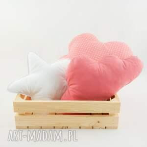 pokoik dziecka brudny róż zestaw trzech poduszek dekoracyjnych, które