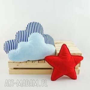 pokoik dziecka czerwona poduszka zestaw 3 poduch marynarski