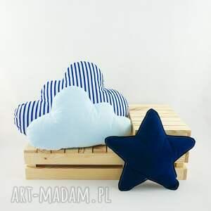 niebieskie pokoik dziecka marynarski zestaw 3 poduch niebiesko granatowy