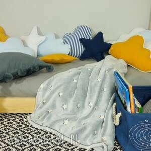 granatowa poduszka pokoik dziecka zestaw 3 poduch niebiesko granatowy
