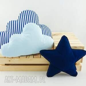 awangardowe pokoik dziecka marynarski zestaw 3 poduch niebiesko granatowy