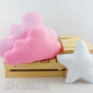 modne pokoik dziecka róż zestaw 3 poduch różowy
