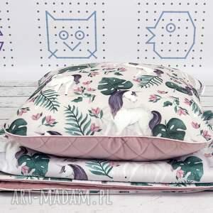 różowe pokoik dziecka jednorożec zestaw do łóżeczka