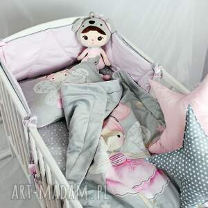 eleganckie pokoik dziecka zestaw do łóżeczka kocyk i płaska