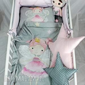 pokoik dziecka: Zestaw do łóżeczka Kocyk i płaska poduszka Wróżki niemowlak