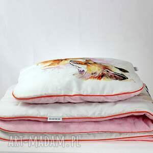 kocyk pokoik dziecka różowe zestaw do łóżeczka i płaska