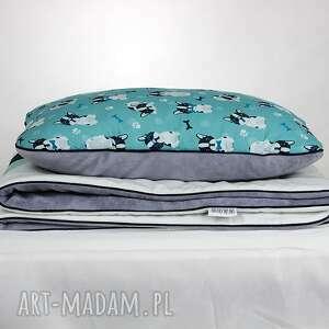 kocyk pokoik dziecka turkusowe zestaw do łóżeczka i płaska