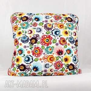 gustowne pokoik dziecka łowicz zestaw dwie poduszki folk kwiaty