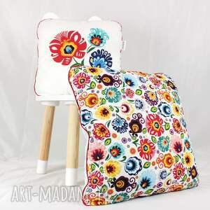 gustowne pokoik dziecka poduszka zestaw dwie poduszki folk kwiaty