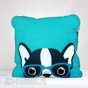 niebieskie pokoik dziecka kocyk zestaw poduszka buldog