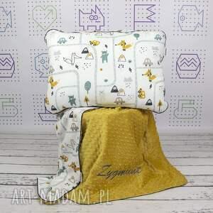 szare pokoik dziecka łóżeczko zestaw kocyk i płaska poduszka