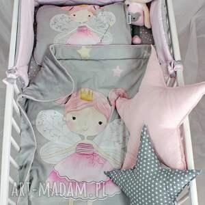 szare pokoik dziecka kocyk zestaw łóżeczka płaska