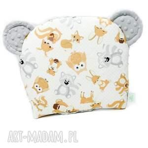 poduszka pokoik dziecka zestaw niemowlaka misiaki szary