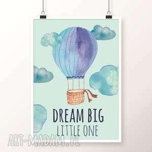 plakaty pokoik dziecka turkusowe zestaw plakatów balloons a3
