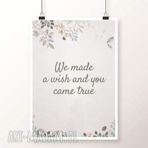 szare pokoik dziecka zajączek zestaw 3 plakatów / we made a wish