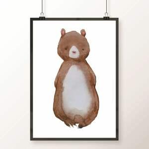 zwierzaki pokoik dziecka brązowe zestaw 3 plakatów a3 / cudne