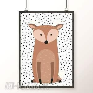 ręcznie wykonane pokoik dziecka zwierzaki zestaw plakatów / woodland friends