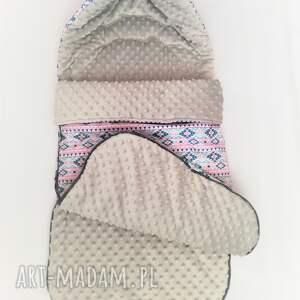 Coramelli różowe pokoik dziecka śpiworek zimowy do wózka