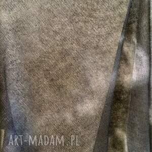handmade poncho bluzka eleganckie grafitowe lniane ręcznie